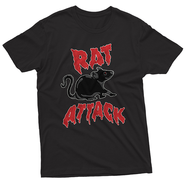 Rat Attack Print T-shirt